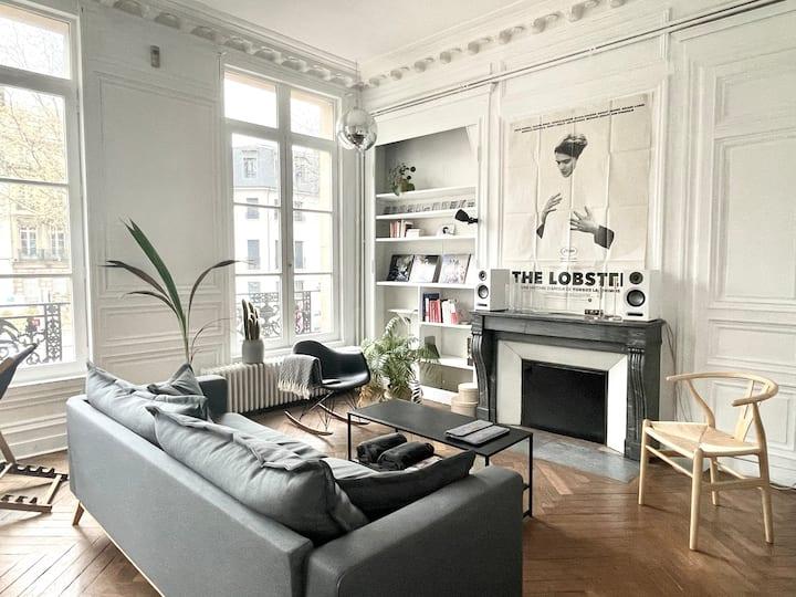 Grand appartement haussmannien centre-ville Rouen