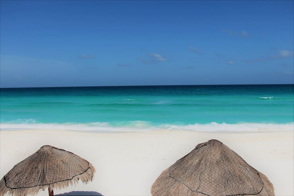 We are steps away from Playa Delfines which was voted one of the top ten beaches in the world