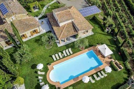 Villa Tontenano Capannole Chianti private pool 7 - Bucine - Villa