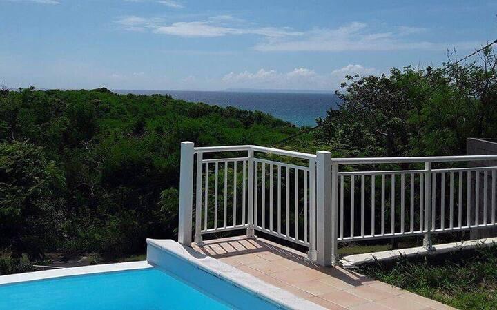 Belle villa vue mer avec piscine à débordement