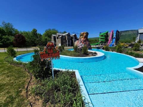 Condo 3 chambres, climatisé & parc aquatique