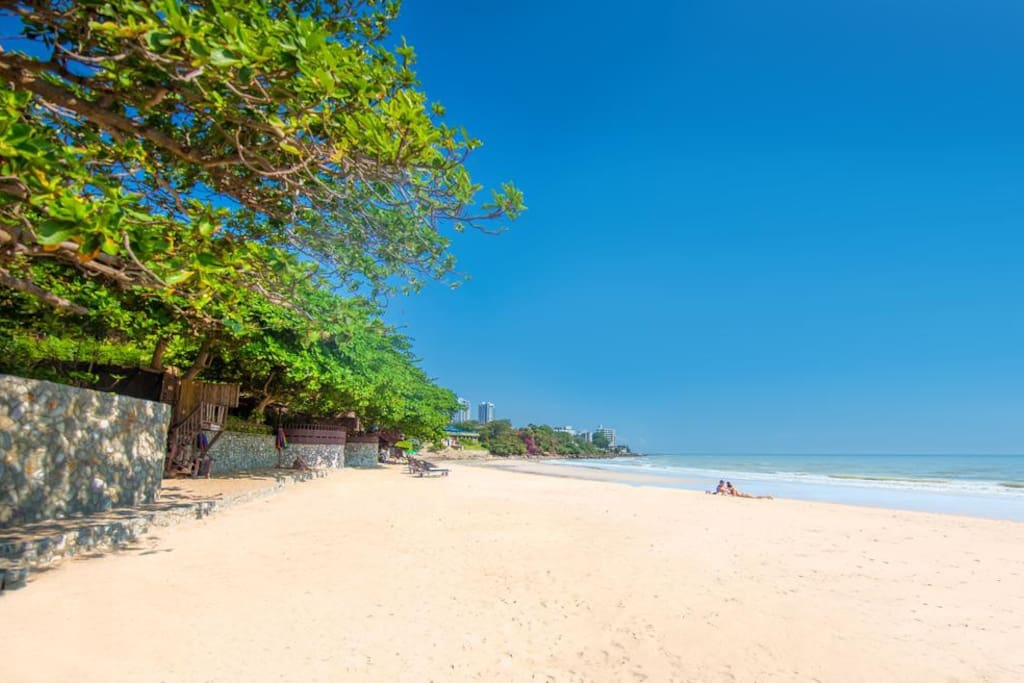 this is your beach.. nestled in the center of Pattaya, and so secluded