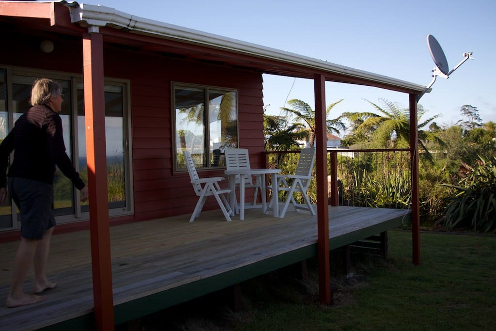 Deck that faces the estuary and ocean - sunsets are 5*****