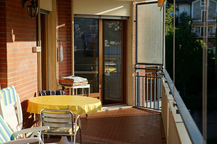 Balkon Richtung Wohnzimmer