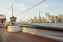 You'll want to walk barefoot on our beautiful teak decks