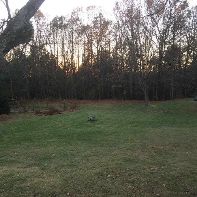 2 acre yard & garden with abutting forest