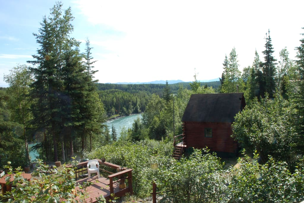 Serenity Cabin view from upper property