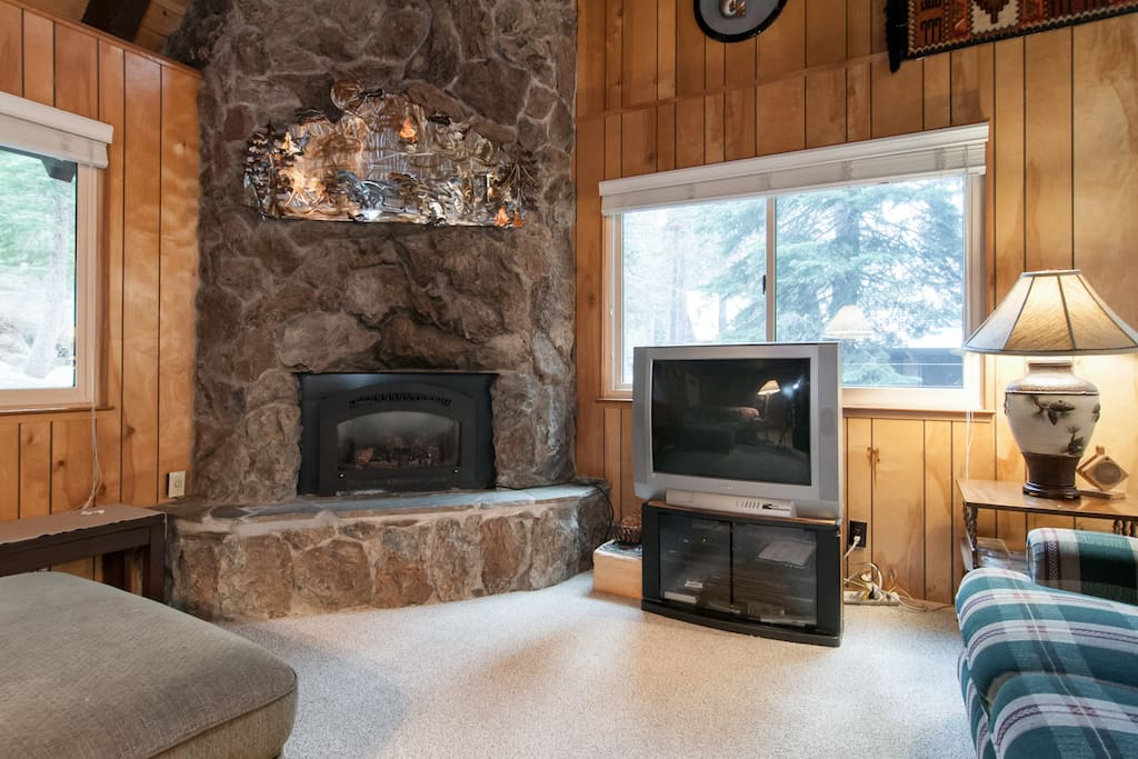cozy fireplace to keep you toasty in the winter