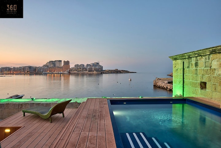 The one and only 4Br VALLETTA SHORELINE VILLA  🔱