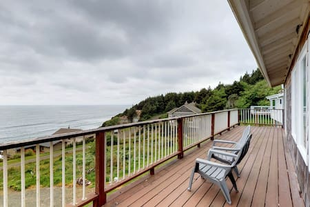 Ocean-view home with private sauna near the beach, natural beauty, and more
