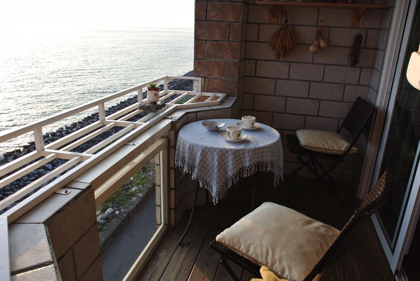 可以看落日的陽台