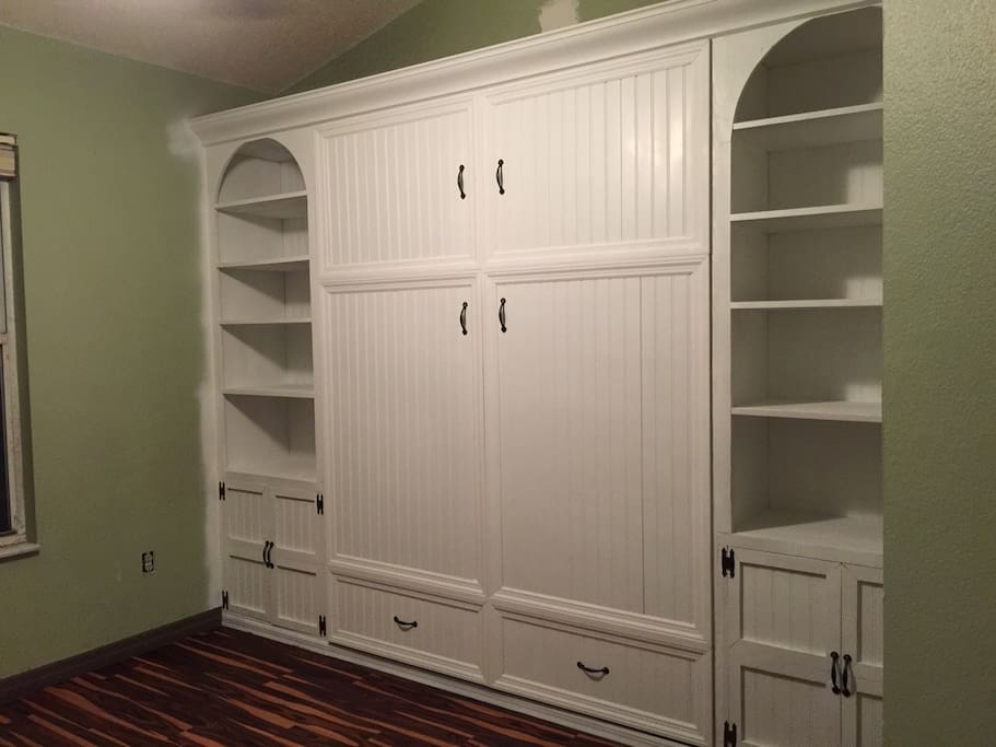 Murphy bed folded up.