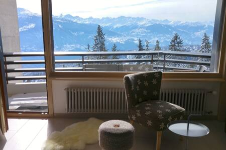 Ski in-out/Pool/3 bedrooms/Top View - Crans-Montana
