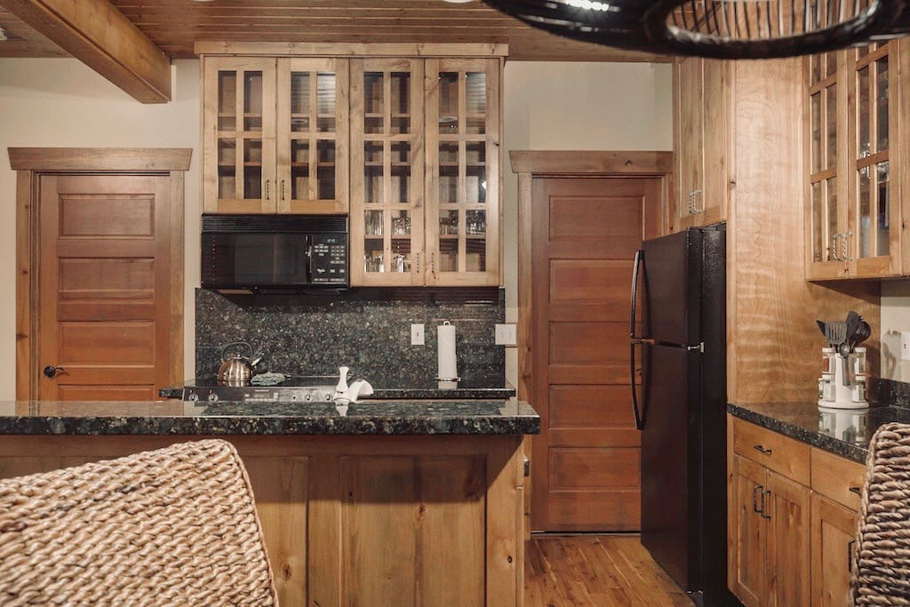 If you feel like cooking, you will have pots, pans and utensils to do it, but with world class eating only a third of a mile away, let's just say you have options.  Salt & Pepper, Sugar and Oil provided, but this cozy place is your home while you are here so bring your favorites to cook.
