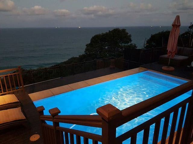 A piece of paradise! 180 sea views, infinity pool.