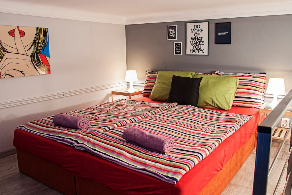 Warm atmosphere on the loft (beds can be used as double or twin)