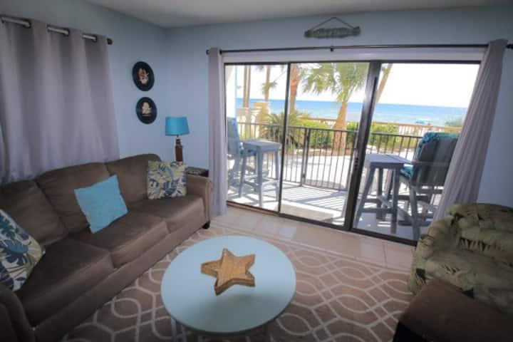 2BR Gulf-front,1st Floor;Sleep 8;Pool on Beach-101
