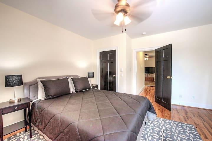 Bedroom #1(green tea memory foam queen-bed) with private bath