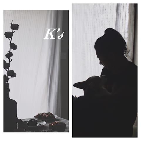 K's 【Room2】福田CBD【三地铁口】【可健身】【柯基狗狗陪伴】【家庭影院】