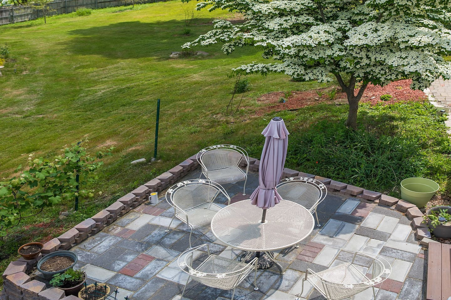 enjoy the outdoor patio while having your morning breakfast or anytime.