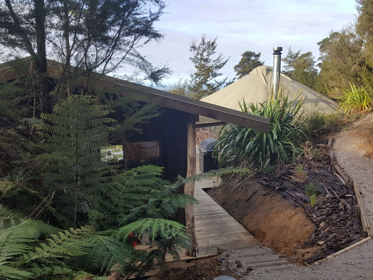 Yurt and  cabin