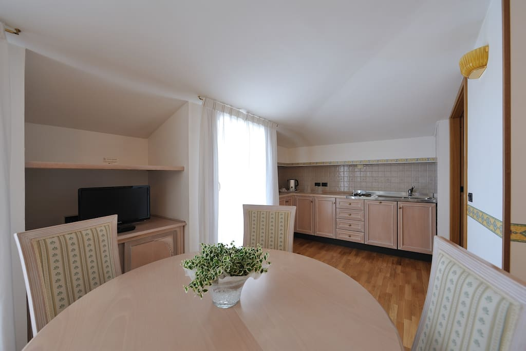 Cucina del Monolocale Roxy Plaza Apartment Soave
