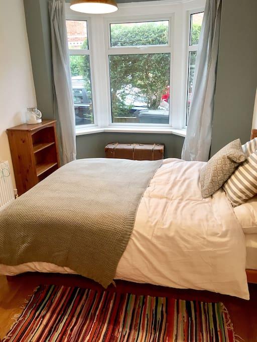 Bedroom and bay window