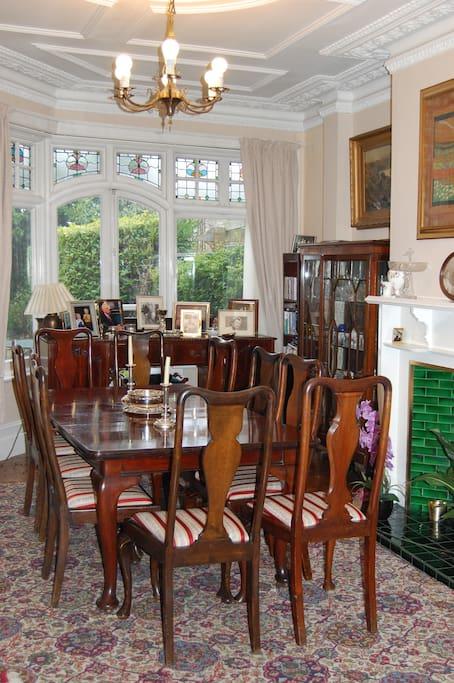 Elegant dining area adjacent to Sitting room