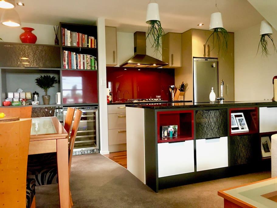 Dining, kitchen area