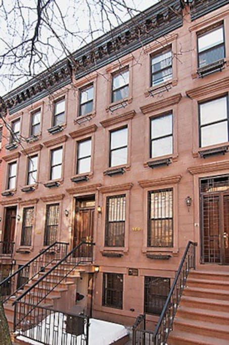 Our brownstone! Classic for New York City! The entire first floor is the lovely apt with its own private entrance~ We live upstairs. This is a two family home which is perfectly legal for Airbnb!