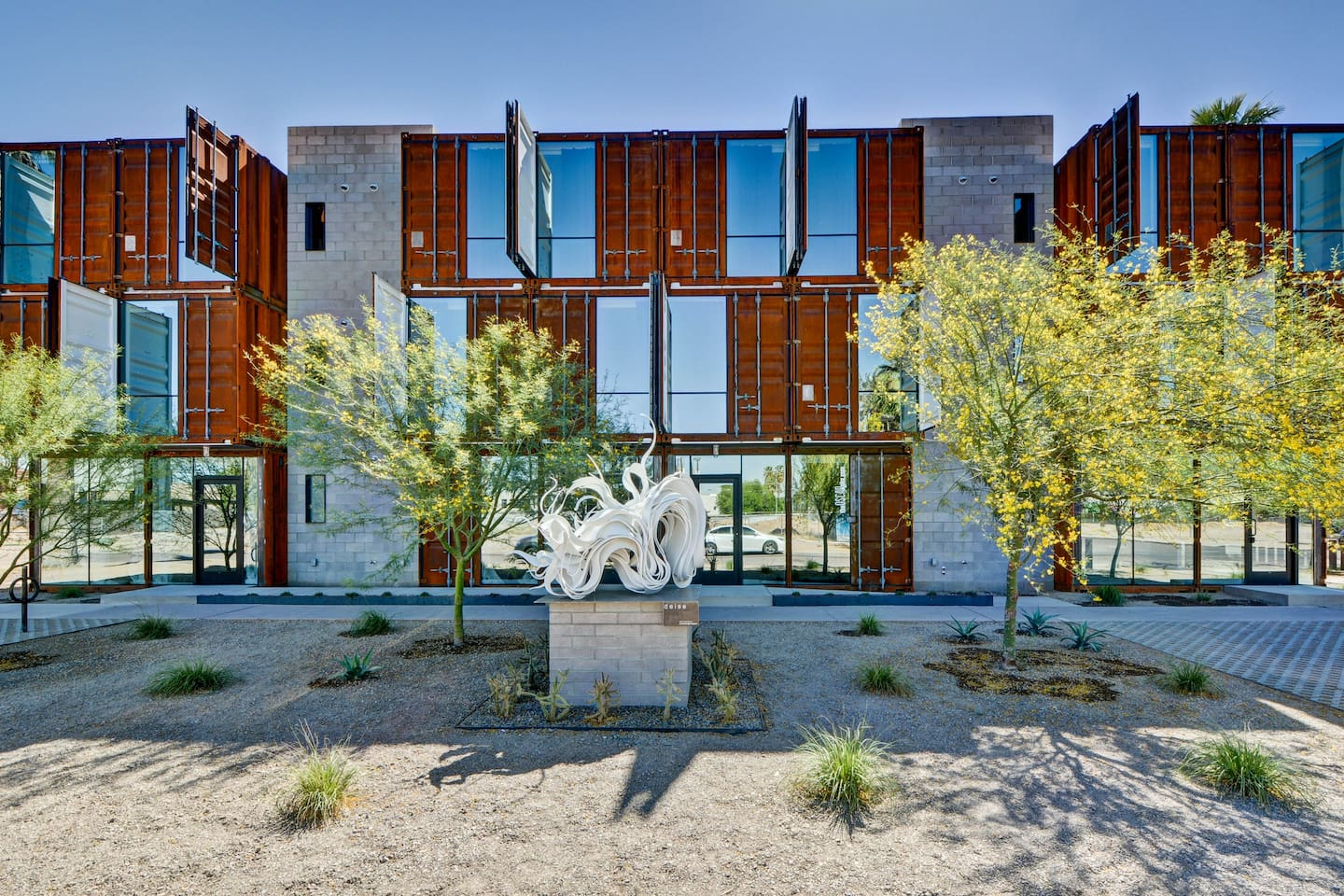 Converted shipping containers converted into beautiful homes!