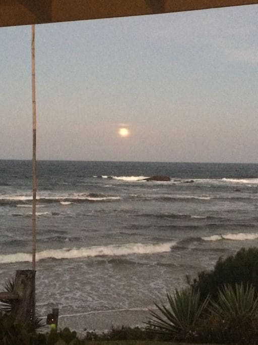 Full moon over the sea - spotted from the living room