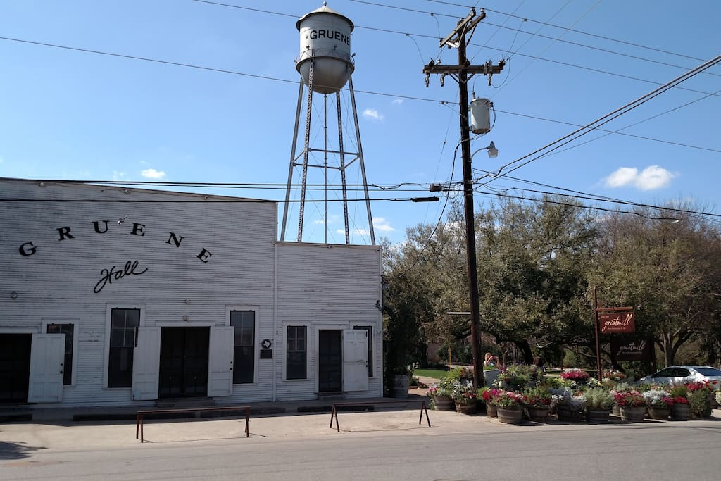 Gruene, Texas Founded in 1878 by Henry D. Gruene. 5 minutes from Stars Haven