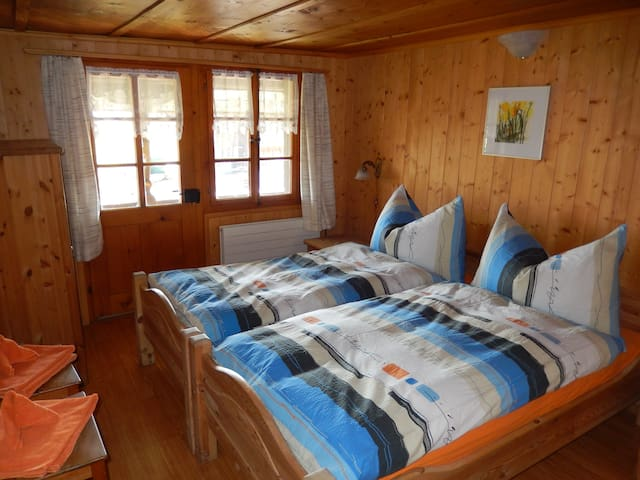 One of our Two Double Rooms with Balcony, TV and free WiFi