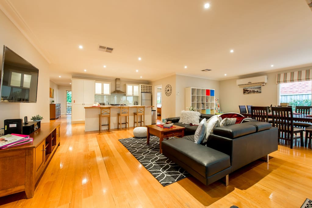 Bright spacious family room