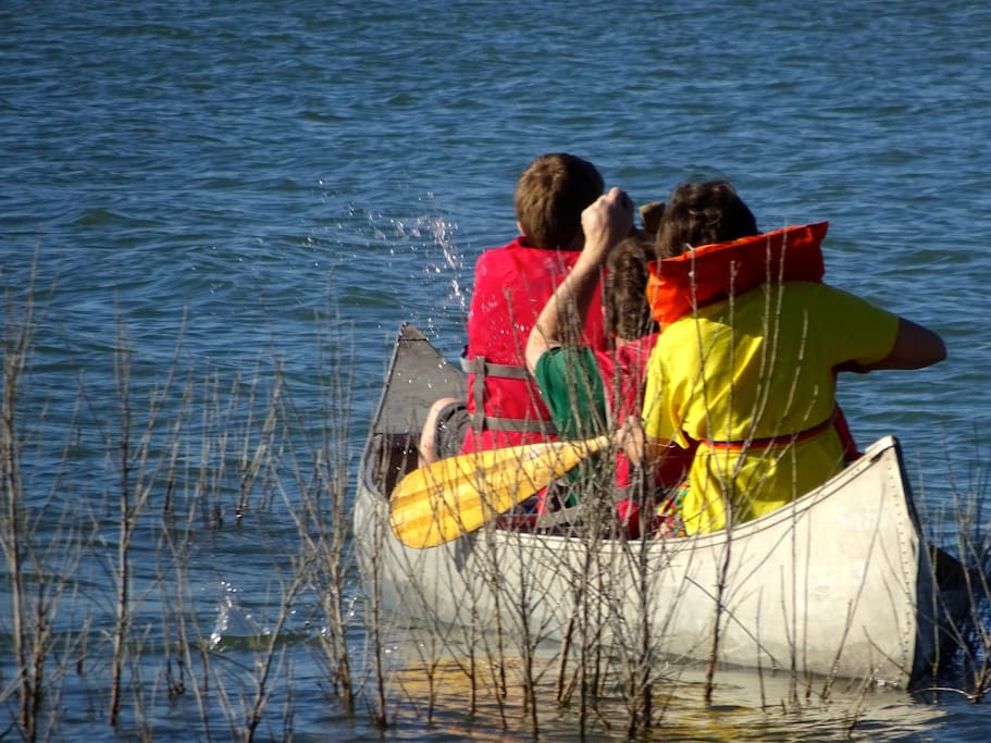 Come join us for a canoe ride around the lake.  We even provide the canoes.