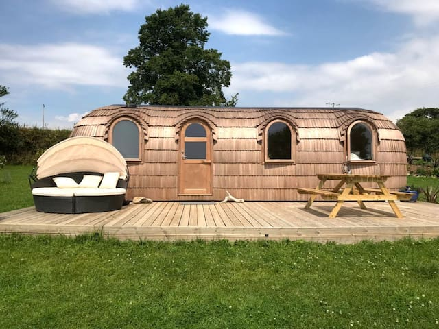 The Pasty - Lydcott Glamping Cornwall, sea views