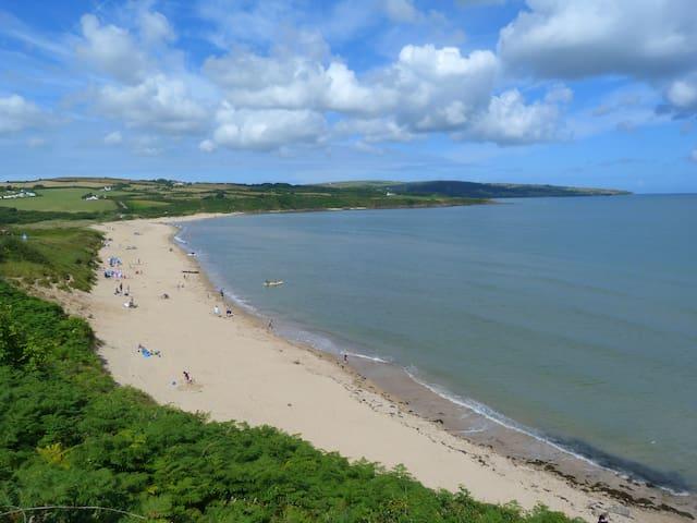 Lligwi beach, 3 miles away from us