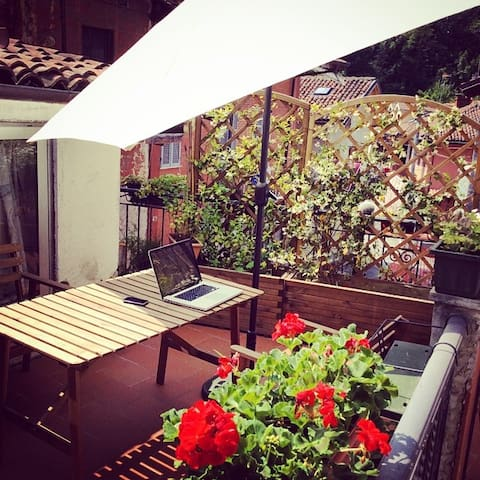 Charming terrace in the historic center