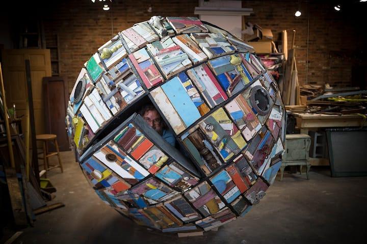 Sleep in a Famous Spherical Art Sculpture!