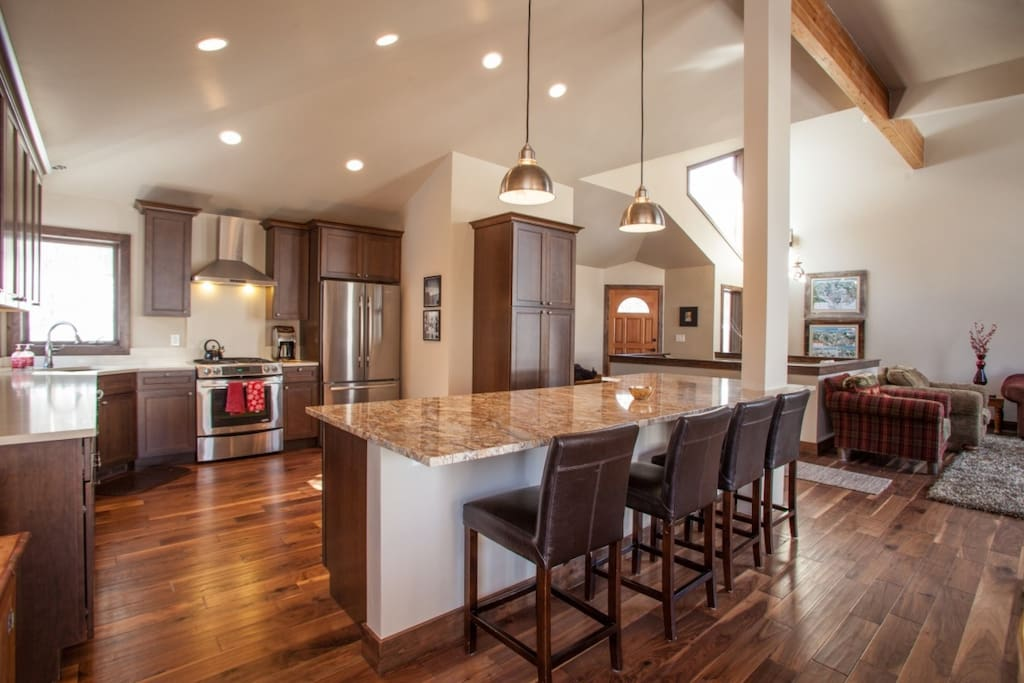 Beautiful kitchen, opens to dining and living area.