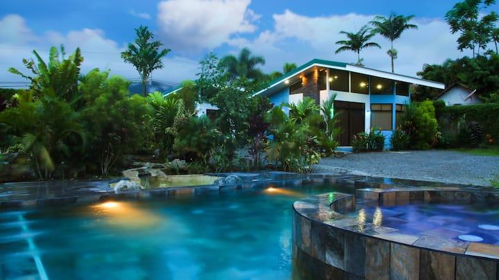 Villa Morpho con piscina