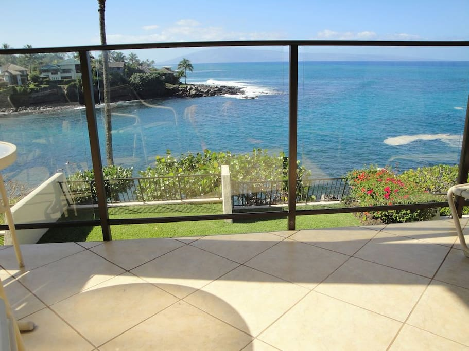 Lanai and view from our unit