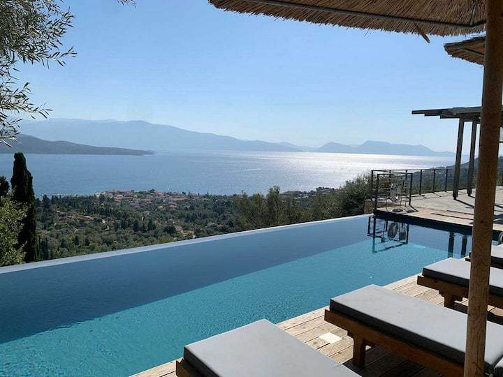 Costa Emmelia Luxury Villa with panoramic sea view and infinity pool!