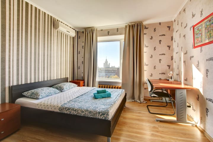2-bedrooms apartment Moscow center city view