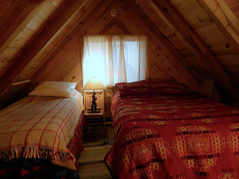 Upstairs sleeping loft