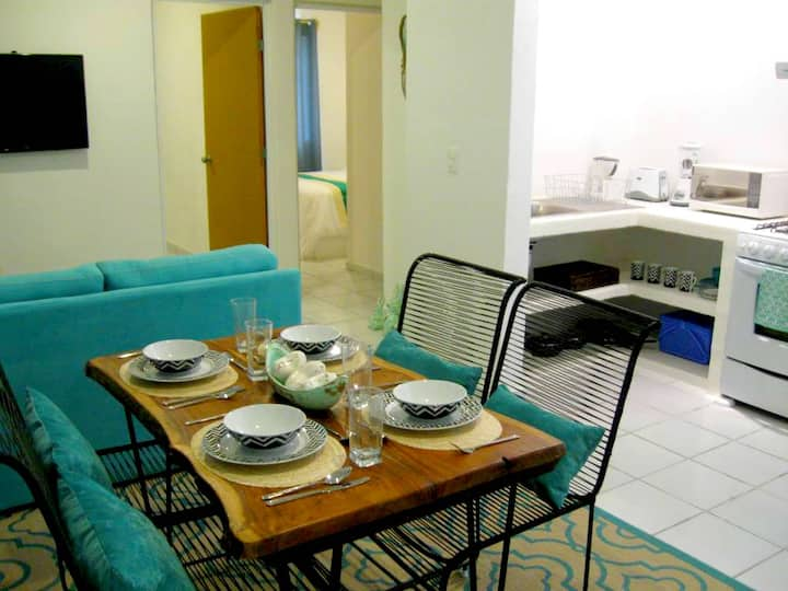 Fully Equipped Apartment. 7 Minutes from the Beach