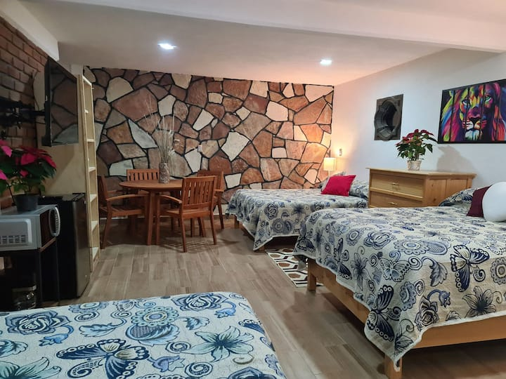 habitación suit 3 camas cabaña la puerta del cielo