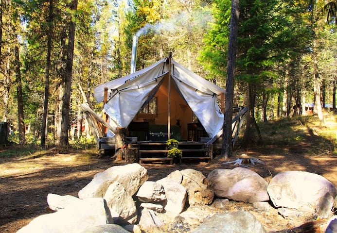 "Lakeside ""Glamping"" at Stillwater Getaway. tent 2"