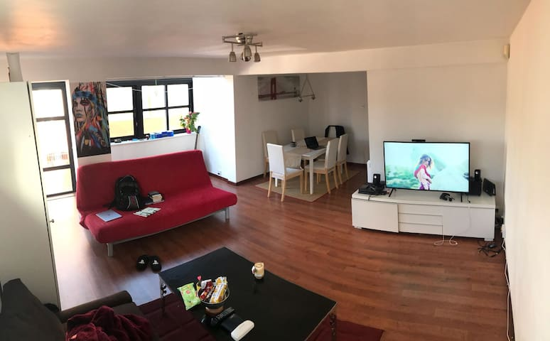 Double storey flat with spacious bedroom& living